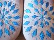 画像3: 【再入荷】モロッコ バブーシュ ナチュラル×ブルー刺繍 (3)