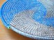 画像4: セネガル バスケット ラウンドトレイ φ29.5cm ブルー (4)