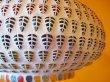 画像6: インド モザイクハンギングランプ  マルチカラーリーフ (6)
