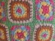 画像2: クロシェ クッションカバー 45cm×45cm用 グリーン (2)