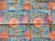 画像2: インド ブロックプリント ハンカチ ターコイズ (2)