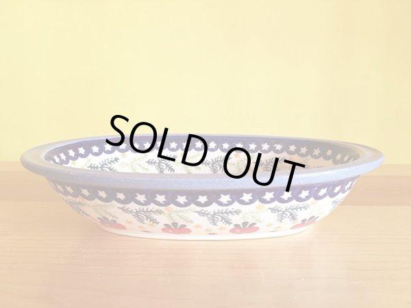 画像1: WIZA社 ポーリッシュポタリー グラタン皿 ラディッシュ (1)