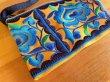 画像3: タイ モン族 刺繍 ポーチ S イエロー×ブルー (3)