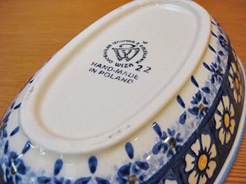 画像4: 【再入荷】WIZA社 ポーリッシュポタリー グラタン皿 ウィザブルー